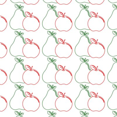 delicious pear and apple healthy fruit background