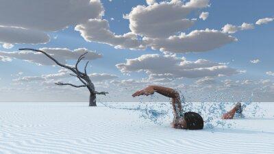 Canvas print Desert sands swimmer