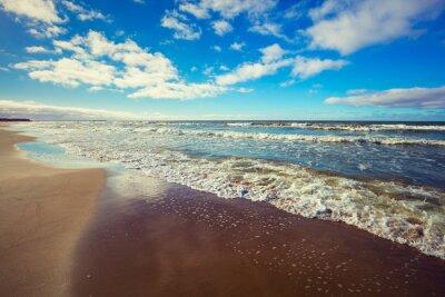 Canvas print Deserted beach