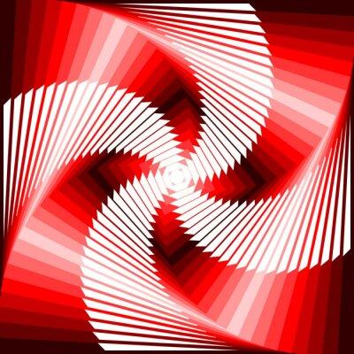 Canvas print Design colorful vortex movement illusion tetragon geometric back