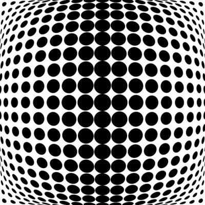 Canvas print Design monochrome dots background