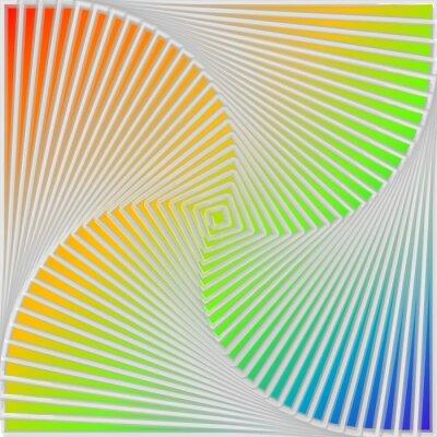 Canvas print Design multicolor swirl movement illusion background