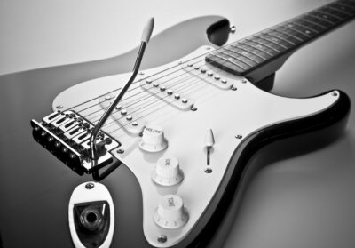 Canvas print Detail of electric guitar