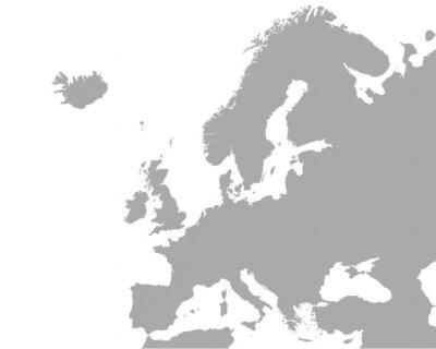 Canvas print Detaillierte Karte von Europa