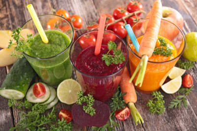 Canvas print detox vegetable juice
