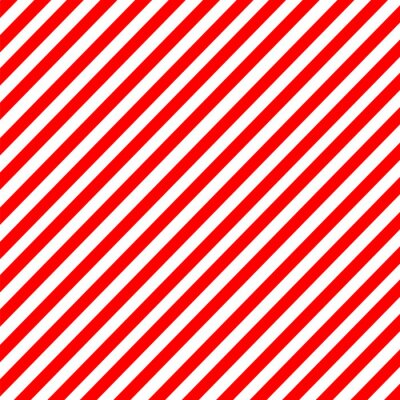 Canvas print Diagonal stripe red-white pattern vector