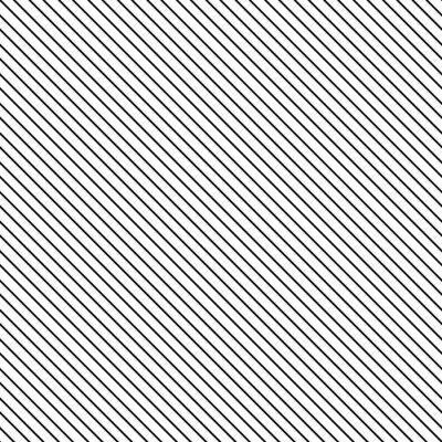 Canvas print Diagonal stripe seamless pattern. Geometric classic black and white thin line background.