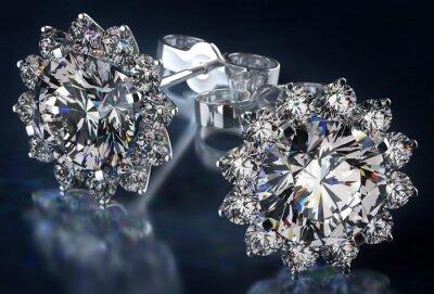 Canvas print Diamond Earrings