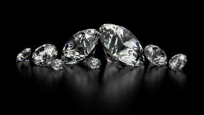 Canvas print diamonds