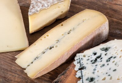 Canvas print Different varieties of French cheeses