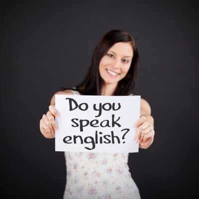 Canvas print Do you speak english?