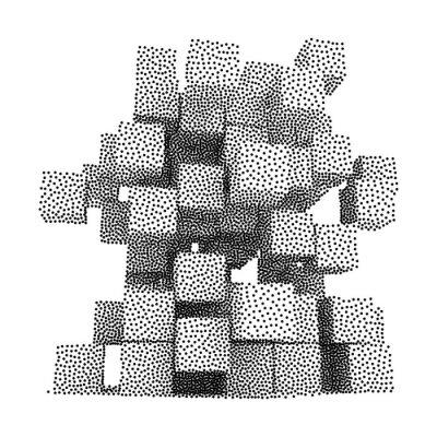 Canvas print Dotwork Halftone Vector Boxes Icon