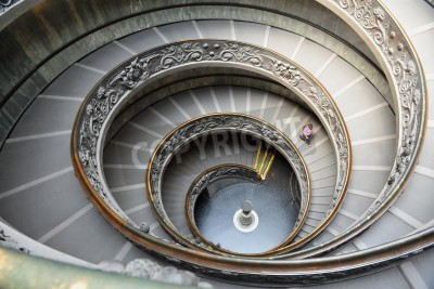 Double helix Spiral staircase designed by Giuseppe Momo of the Vatican Museum in Rome, Italy