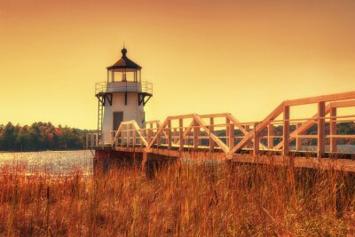 Canvas print Doubling Point Lighthouse in New England