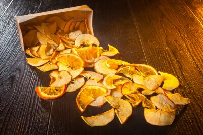 Dried oranges. Dried pear. Dried apples. Dried fruits. snack