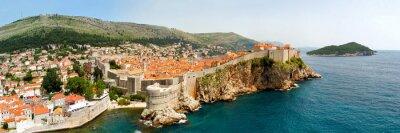Canvas print Dubrovnik walls panorama