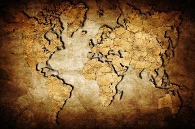 Canvas print Earth map