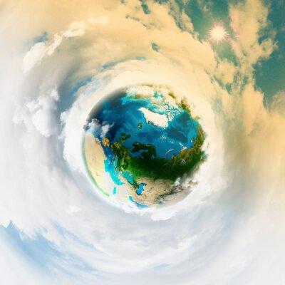 Canvas print Earth planet