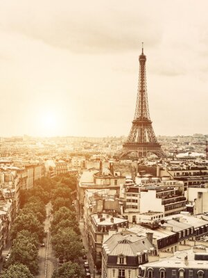 Canvas print Eiffel from the Arch of Triumph