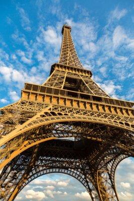 Canvas print Eiffel tower in Paris