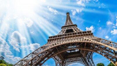 Canvas print Eiffelturm - Weitwinkel Aufnahme