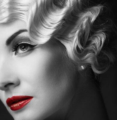 Canvas print Elegant blond retro woman