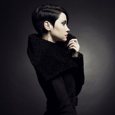 Canvas print Elegant lady in coat