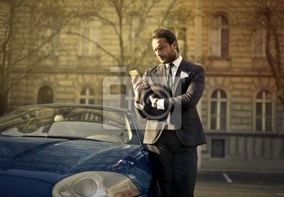Elegant man waiting
