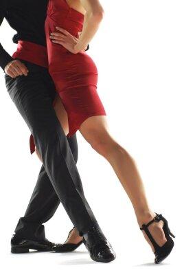Canvas print elegnace tango dancers