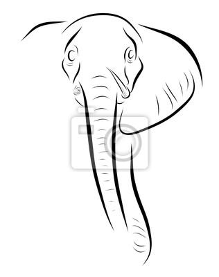 Canvas print Elephant head