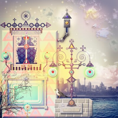 Canvas print Enchanted house in the haven