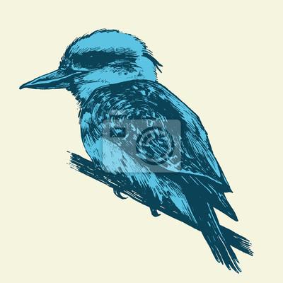 Canvas print endangered bird