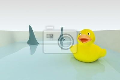 Canvas print endangered rubber duck