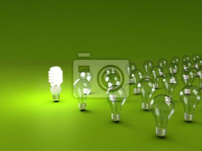 Canvas print Energy saving light bulb