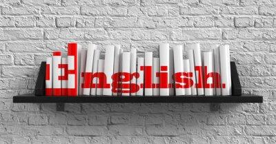 Canvas print English. Education Concept.