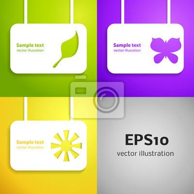 Entertainment applique background set. Vector illustration for