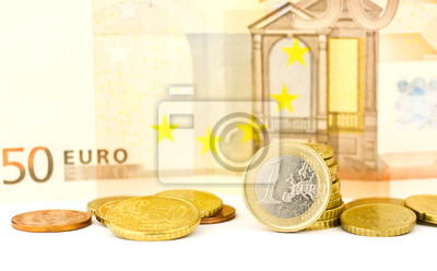 euro money coins and banknote