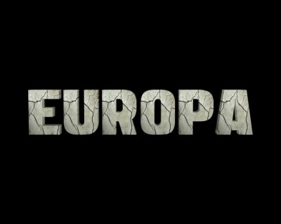 Canvas print Europa 3d wort