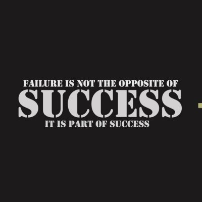 Canvas print Failure is not the opposite of success. It is part of success.