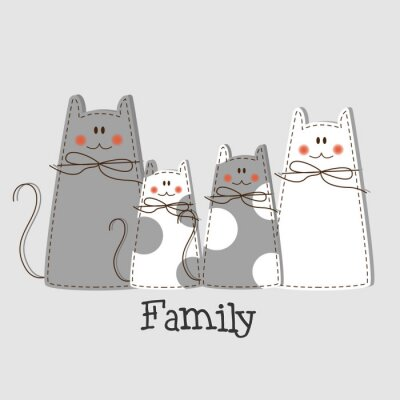 Canvas print Family Background
