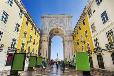 Canvas print  famous arch of the Augusta street located in Lisbon