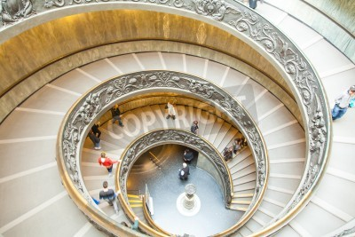 Famous spiral staircase at Vatican Museum in Rome
