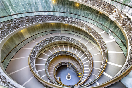 famous Vatican museum , staircase give it more gothic atmosphere. Vatican museum in Rome, Italy
