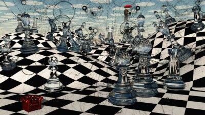Canvas print Fantasy Chess
