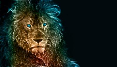 Canvas print Fantasy digital art of a lion