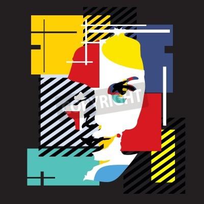 Canvas print Fashion girl. Modern illustration. Cubism