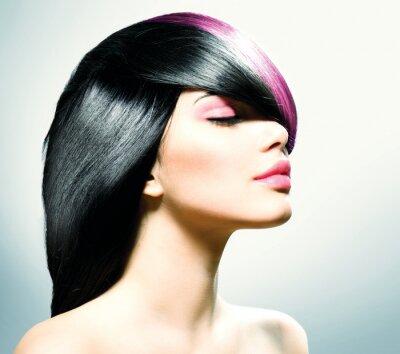 Canvas print Fashion Hair. Hairstyle