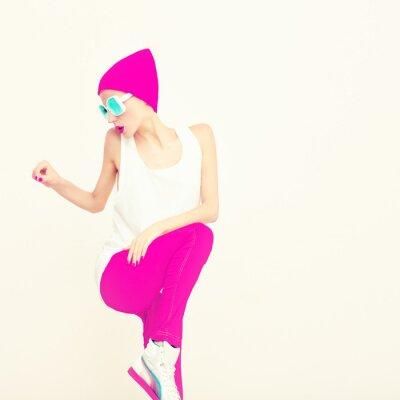 Canvas print Fashion party girl