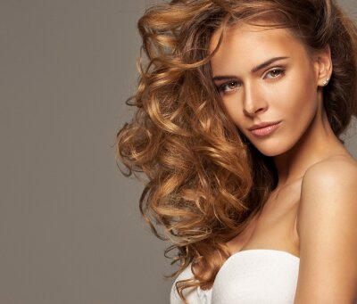 Canvas print Fashion photo of blonde beauty with natural make-up