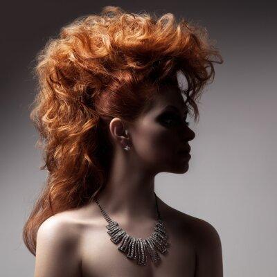 Canvas print Fashion Portrait Of Luxury Woman With Jewelry.